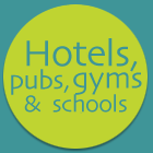 Hotels, pubs, gyms and schools